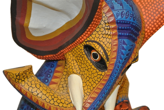 Energetic Elephant Genuine Oaxacan Alebrije for Sale