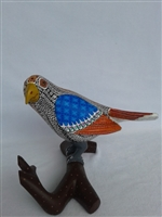 Blue-winged Seedeater Genuine Oaxacan Alebrije for Sale