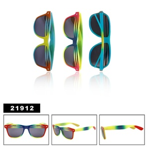 Great tie-dye style of wholesale wayfarer shutter shades
