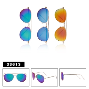Wholesale Aviator Sunglasses with Mirrored Lens