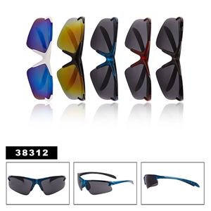 Men's Wrap-Around Sport Sunglasses