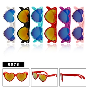 Ladies Heart Shaped Sunglasses
