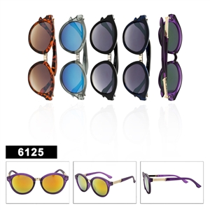 Ladies Round Fashion Sunglasses - 6125