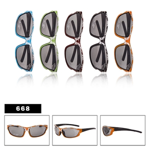 Check out these sporty flame kid sunglasses.
