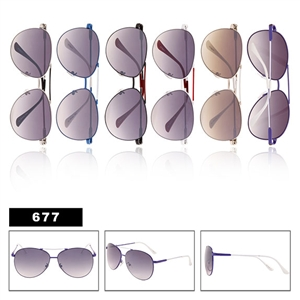 Aviators Wholesale Sunglasses 677