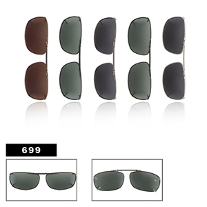 Wholesale Polarized Clip Ons Metal Slide Style 699