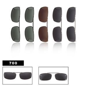 Slide Style Polarized Clip On Sunglasses 700