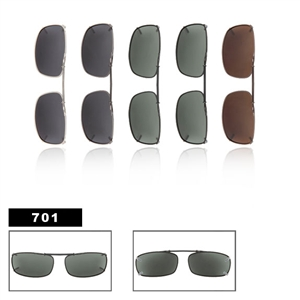 Wholesale Polarized Clip Ons Metal Slide Style 701