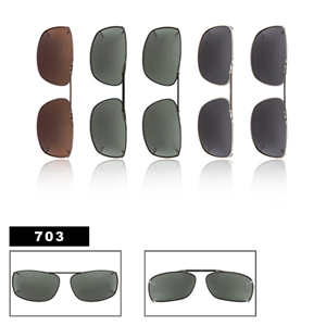 Wholesale Polarized Clip Ons Metal Slide Style 703