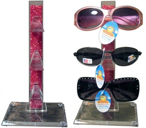 Display stand for sunglasses wholesale-hold 3 pairs