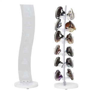 Sunglass display rack wholesale w/wave design