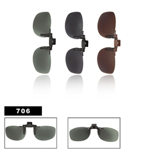 Wholesale Polarized Clip On Sunglasses 706