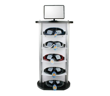 Counter goggle display stand wholesale-Holds 5 pairs