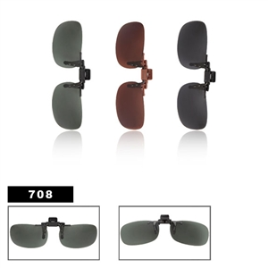 Wholesale Polarized Clip On Sunglasses 708