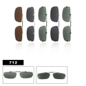 Polarized Clip Ons Slide Style 712