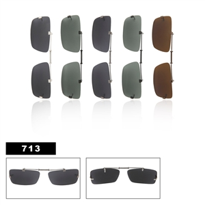 Wholesale Polarized Clip Ons Metal Slide Style 713