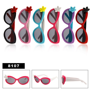 Bulk sunglasses for kids with flowers
