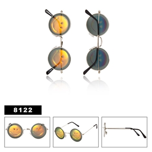 Wholesale hologram sunglasses with smiley face