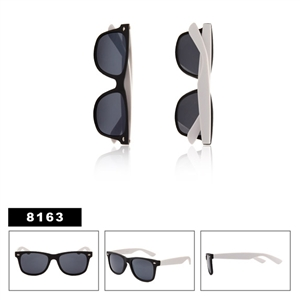 Matte Black with White Wholesale Wayfarers