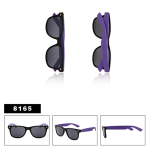 Matte Black with Purple Bulk Wayfarer Sunglasses