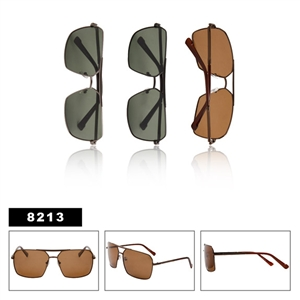 Polarized Aviator Sunglasses with Square Lens