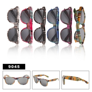 Plaid Wayfarers Sunglasses 9045