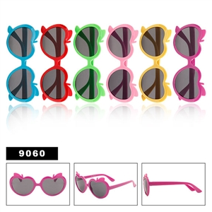 Kids sunglasses apple shaped frames-9060