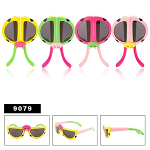 Wholesale Kid's Ladybug Folding Sunglasses