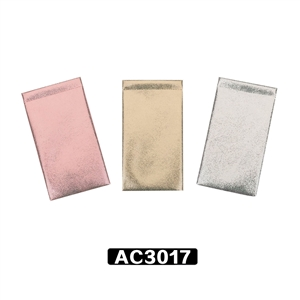 Three color glitter vinyl pouches
