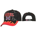 "Check out with Wholesale ""Rebel"" Baseball Caps comes in Black."