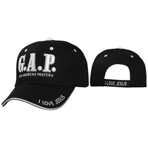 "Check out there with Wholesale Christian ""G.A.P""-God Answers Prayers Baseball Caps"