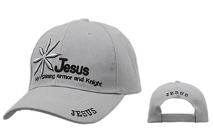 "Check out Christian Wholesale Hats""Jesus-My Shining Armor and Knight""-comes in assorted colors"