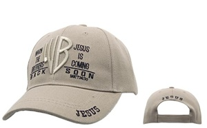 Check out online our Wholesale Caps-WB Warn the Brothers Jesus is Coming is coming to assorted colors