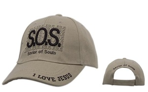 "Must see them Wholesale Christian Caps-""S.O.S. Savior Of Souls""-comes in assorted colors."