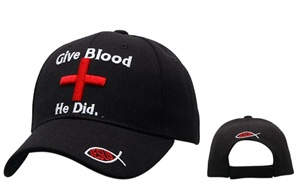 "Check out theses Wholesale Religious Hats-""Give Blood He Did""-comes in assorted colors."