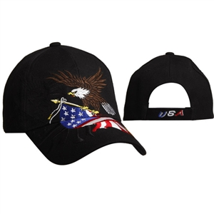 Patriotic Cap with Eagle & U.S. Flag
