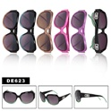 large framed designer sunglasses DE623