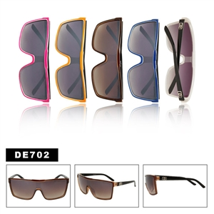 "One Piece Lens Sunglasses DE702 Designer Eyewearâ""¢"