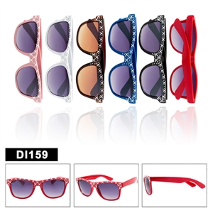 Diamond Eyewear Rhinestone Sunglasses