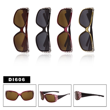 Ladies Polarized Rhinestone Sunglasses