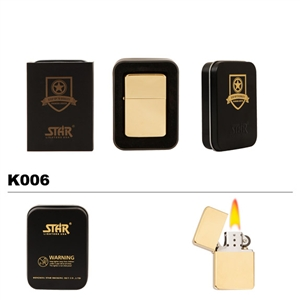 Brass Oil Lighter-Brass Finish-K006