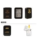 Brass Oil Lighter-Bamboo on Chrome-K010