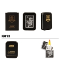 Brass Oil Lighter-Tiger-K013