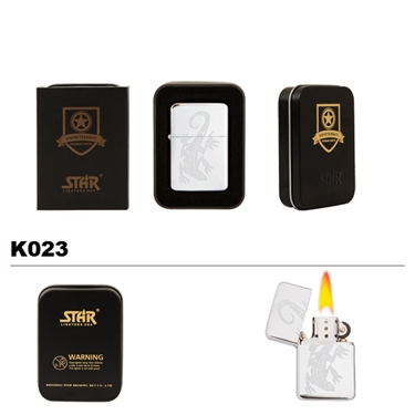 Brass Oil Lighter-Lizard-K023