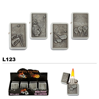 Golfing Oil Lighters wholesale L123