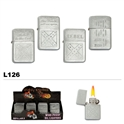 Assorted Engraved oil lighters wholesale L126