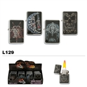 Assorted multi-skulls oil lighters wholesale L129