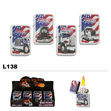 Assorted American Trucker Wholesale Oil Lighters L138