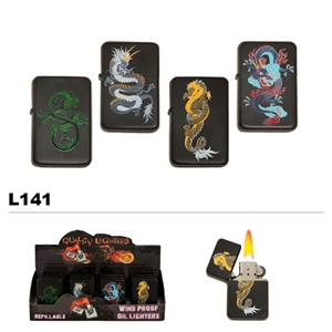 Assorted Dragons Wholesale Oil Lighters L141