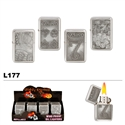 "Assorted ""Gambling"" Wholesale Oil Lighters L177"